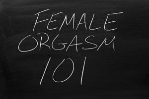 female orgasm 101 chalkboard sign