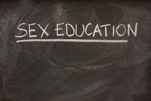 sex education chalkboard sign