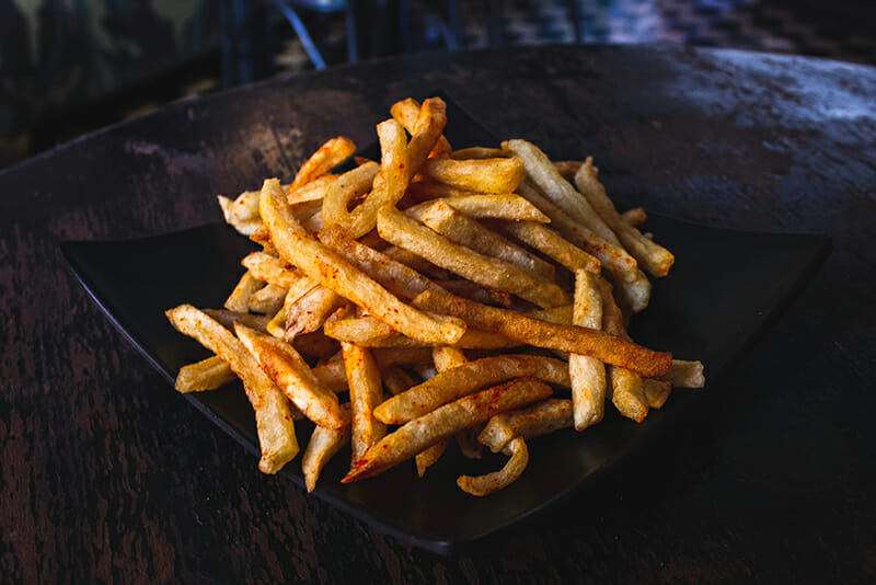 french fries on a plate - Planned Parenthood FRIES