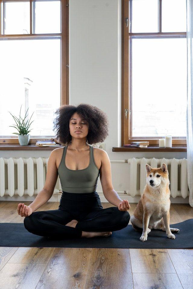 Woman Mediating